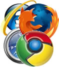 Browser logos for websites
