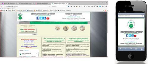 SAVF Head Office Website