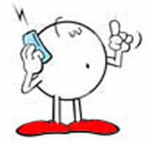CArtoon talking on cell phone