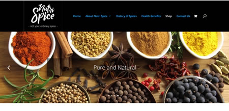 New website for Nutrispice