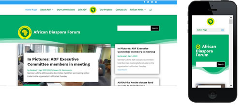 ADF Website Portfolio image